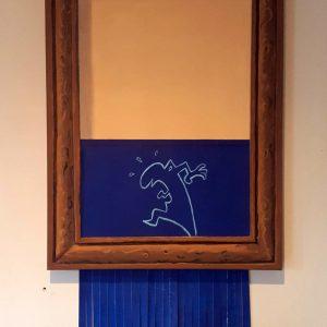 (VENDUE) Clin d'œil à Banksy .... Et La Llinea