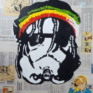 (VENDUE) Stone Trooper - Acrylique 18 x 24
