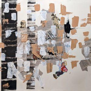 """Sans Titre - Acrylique et Multi médium - 24"""" X 36"""""""