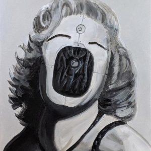 """Marilyn Machine - Acrylique 14"""" x 18"""""""