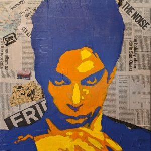 """(VENDUE) Prince - Acrylique - 24"""" X 36"""""""