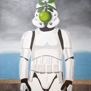"Magrittrooper. Acrylic 30""x40"""