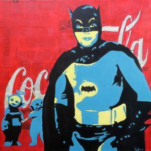"(VENDUE) Batman and ... - Multi-médium - 36"" X 40"""
